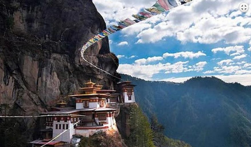 Tiger's Nest Monastery also known as Taktsang monastery in Bhutan.