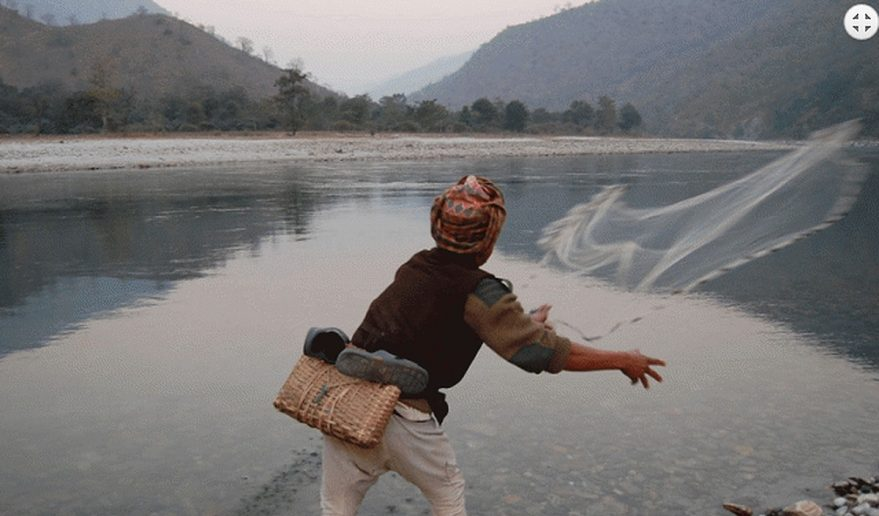 Traditional Net fishing.