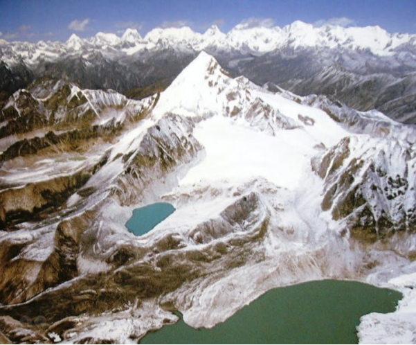 Tso Rolpa Glacier Lake with surrounding splendid views
