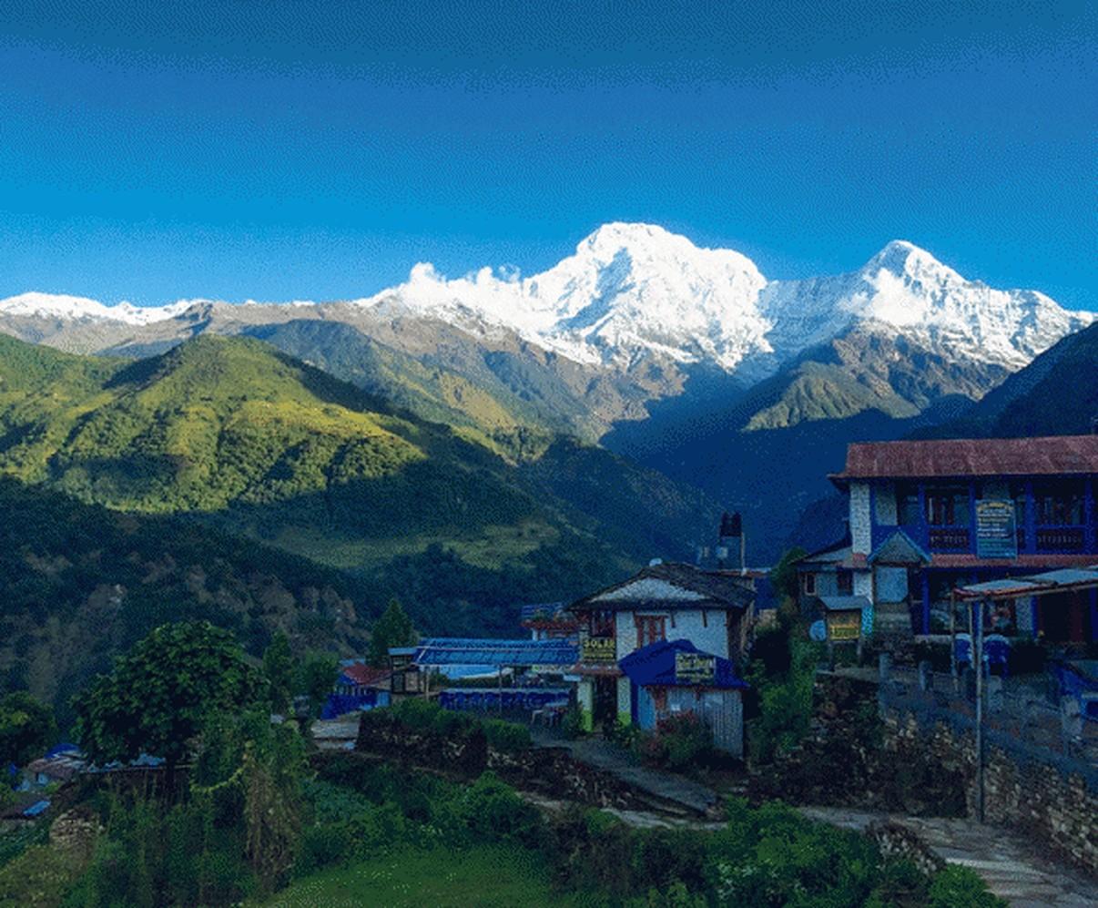Ghorepani Poonhill Trek   Landruk Village