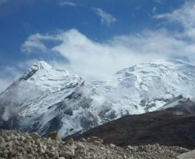 View of Himlung Himal 7126m 23345ft