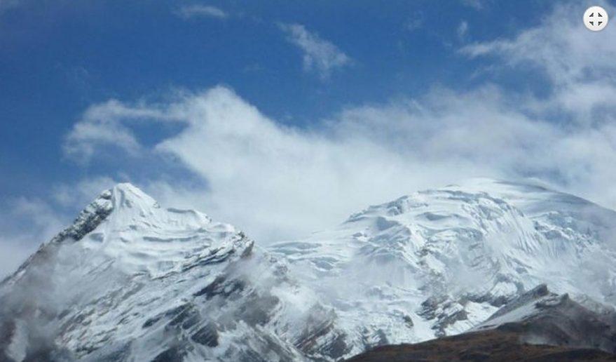 View of Himlung Himal 7126m 23345ft