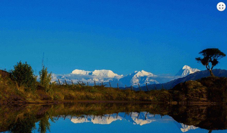 View of Mt. Makalu 8463m from Gupha Pokhari.