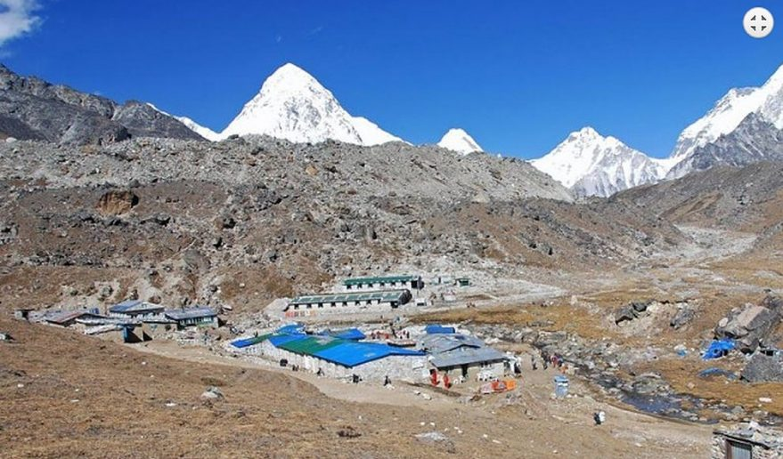Everest Base Camp Helicopter Tour | View of Mt. Pumori from Lobuche.