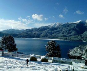 White snow Lake Of Rara Lake Trek