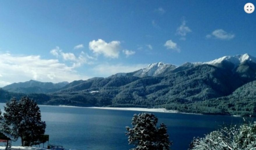 White snow Lake Of Rara Lake Trek