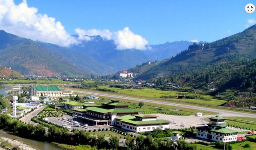Glimpse of Bhutan Tour | Wide angle view of Paro Bhutan.