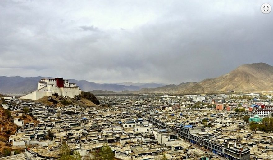 Wide angle view of Shigatse Popular Tour Of Tibet.