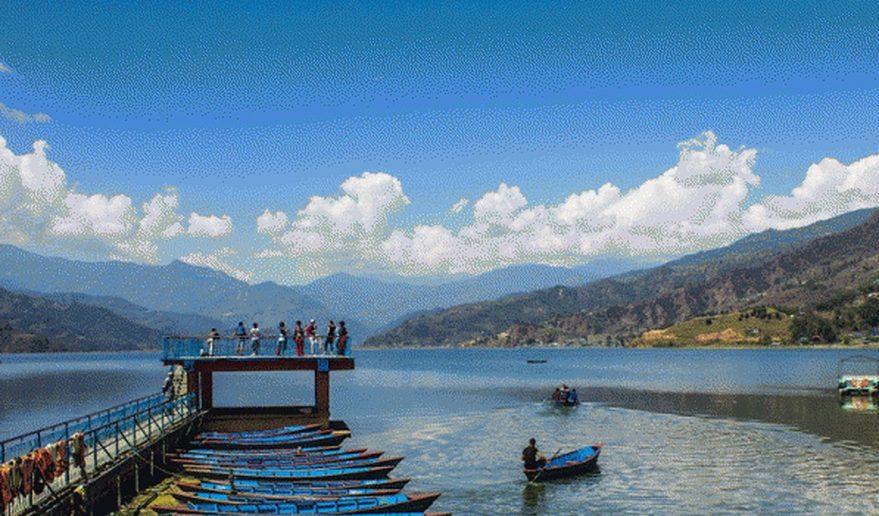 Pokhara Lakes Fishing | Wooden Boat in Fewa Lake.