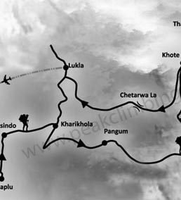 Mera Peak Route Map