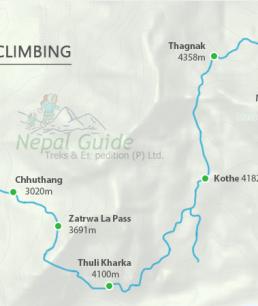 Mera Peak Route Map