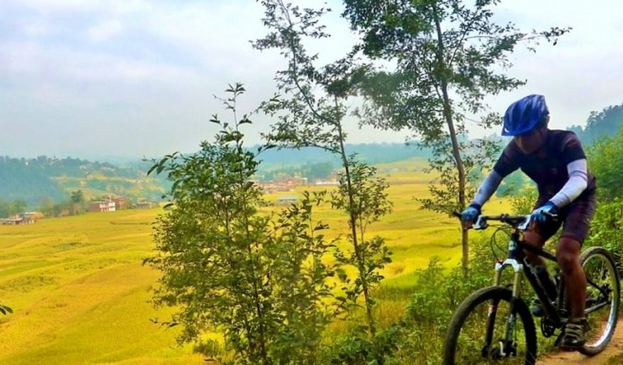 mountain Bike in Kathmandu valley.