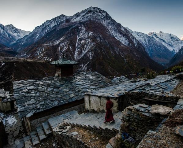 At Mu Gompa - A Tibetan Monastery | Manaslu Circuit Tsum Valley Trek