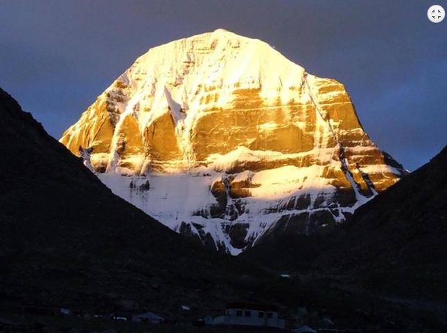 Early morning sunrise over holy Mt. Kailash